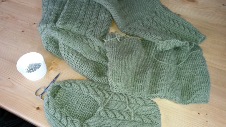 Sewing Up Knitted Slippers