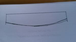 Drawing Curtain tieback template 3