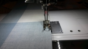 Topstitching Curtain Tieback