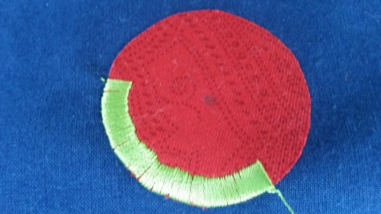 Satin stitch definitely not perfect yet!