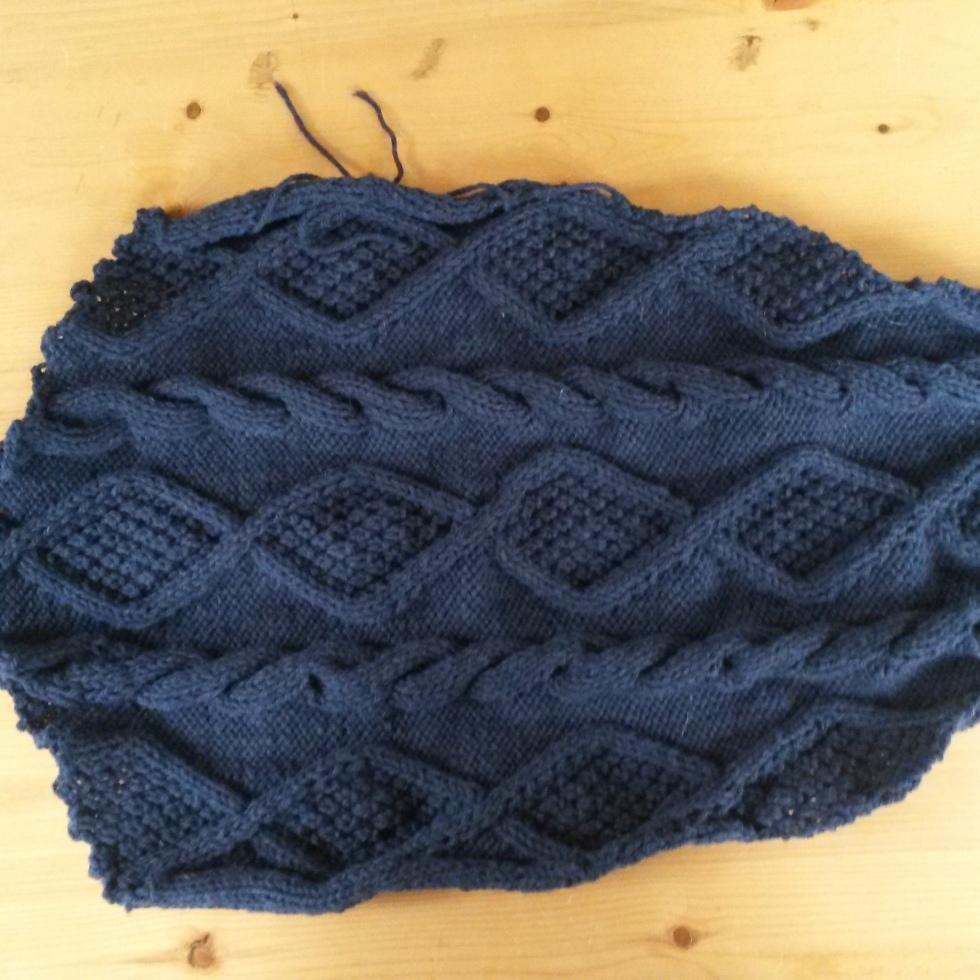 Knitting Aran sweater