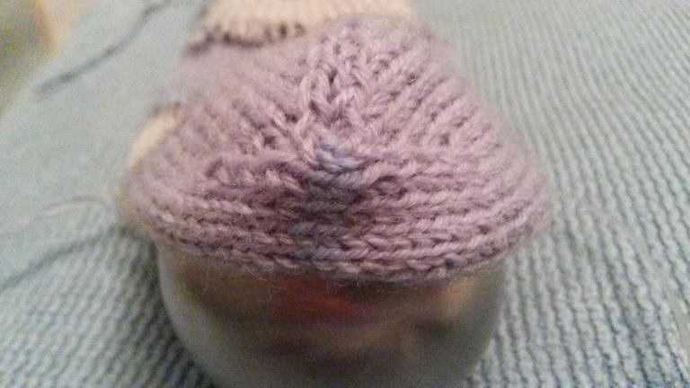 Balbriggan Heel grafted together with Kitchener stitch