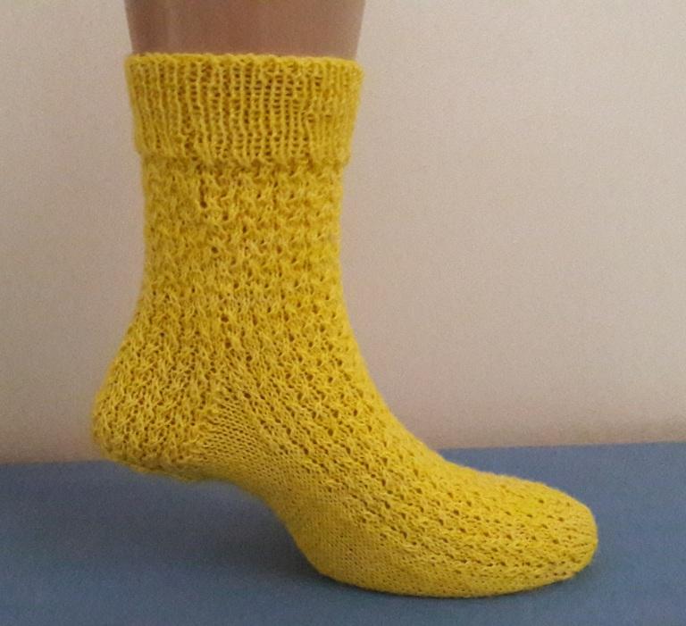 No kitchener stitch sock
