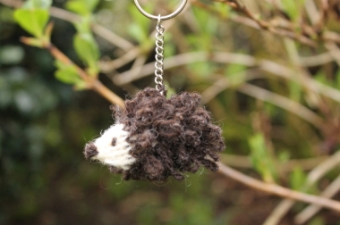 Hedgehog keyring 2