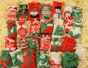 27 Knitted Santa Sacks