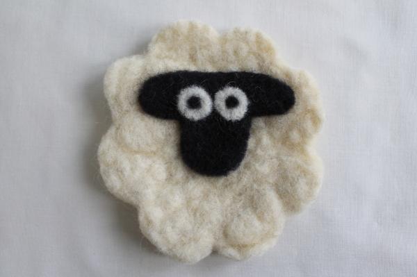 Felted Sheep Coaster